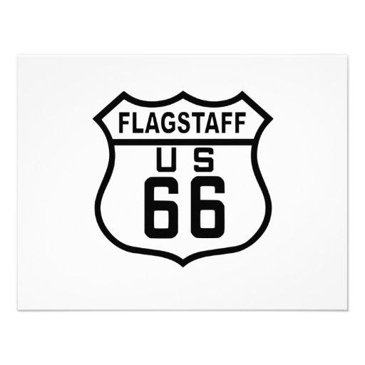 Ruta 66 de la asta de bandera comunicados personales
