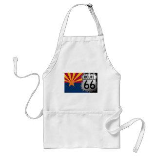 Ruta 66 de la bandera de Arizona Delantal