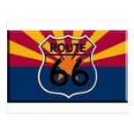 Ruta 66 de la bandera de Arizona Postales