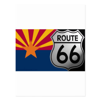 Ruta 66 de la bandera de Arizona Postal