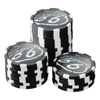 Ruta 66 de la cueva del hombre fichas de póquer