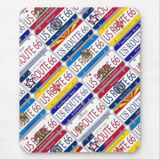 RUTA 66 de los E.E.U.U. las 8 placas de vanidad de Tapetes De Ratones
