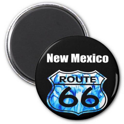 ruta 66 de New México Imán Redondo 5 Cm