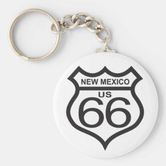 Ruta 66 de New México los E.E.U.U. Llavero Redondo Tipo Pin