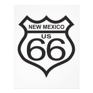 Ruta 66 de New México los E.E.U.U. Plantilla De Membrete