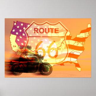 Ruta 66 del paseo póster