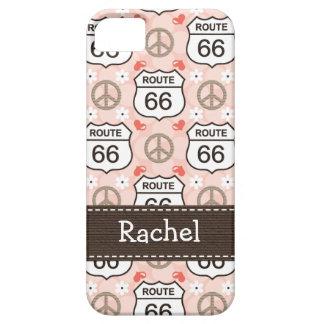 Ruta 66 del viaje por carretera del amor de la paz iPhone 5 Case-Mate carcasa