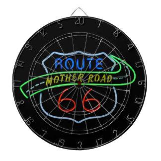 Ruta 66, el camino de la madre, señal de neón