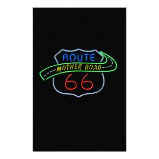 Ruta 66, el camino de la madre, señal de neón papelería personalizada