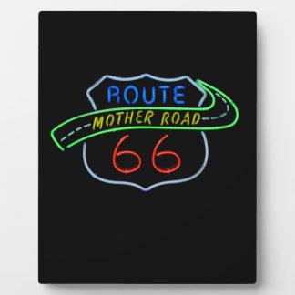 Ruta 66, el camino de la madre, señal de neón placas de plastico