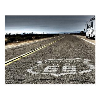 Ruta 66 en el postre tarjetas postales