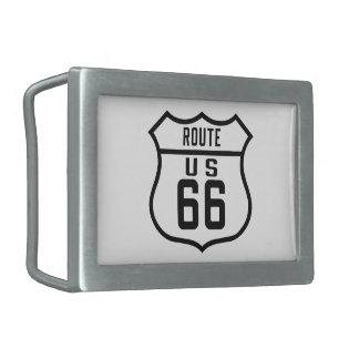 Ruta 66 - General Hebillas Cinturón Rectangulares
