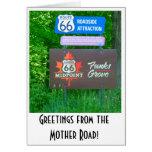 Ruta 66 - Illinois - tarjeta de felicitación de la