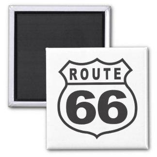 Ruta 66 imán cuadrado