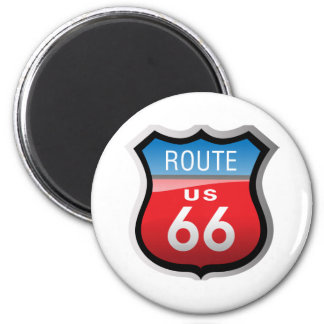 Ruta 66 imán redondo 5 cm