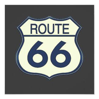 """Ruta 66 invitación 5.25"""" x 5.25"""""""