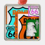 Ruta 66 Kingman Giganticus Headicus AZ Adorno Navideño Cuadrado De Metal