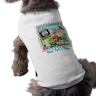 Ruta 66 - Las CAMISETAS del MASCOTA del camino de  Camisas De Perritos
