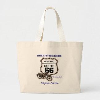 Ruta 66-Listen a su madre Kingman Bolsa Tela Grande