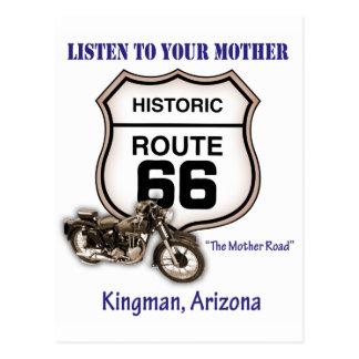 Ruta 66-Listen a su madre Kingman Postales