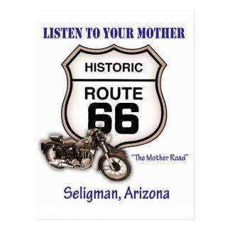 Ruta 66-Listen a su madre Seligman Postales