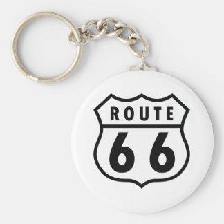 Ruta 66 llavero personalizado