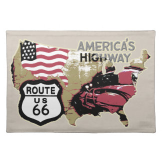 Ruta 66 mantel individual