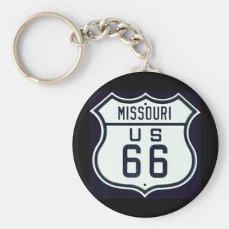 Ruta 66 Missouri Llavero Redondo Tipo Pin