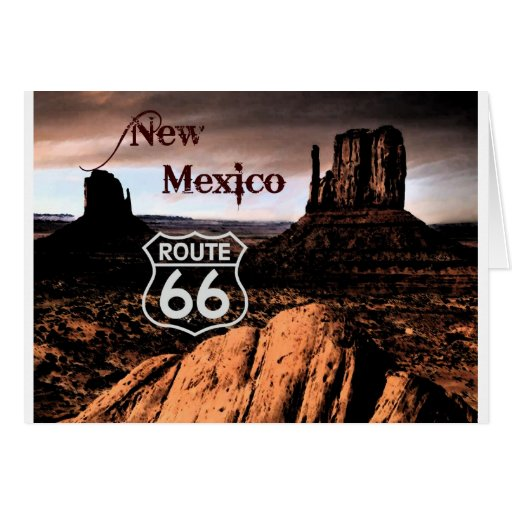 Ruta 66 New México Tarjeta De Felicitación