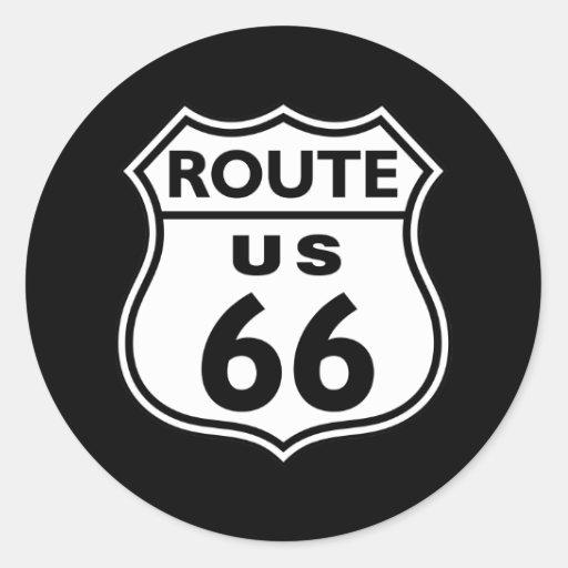 Ruta 66 pegatinas redondas