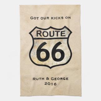 Ruta 66 (personalizable) toallas