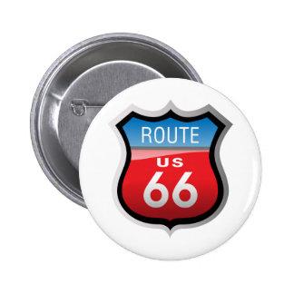 Ruta 66 pin redondo 5 cm