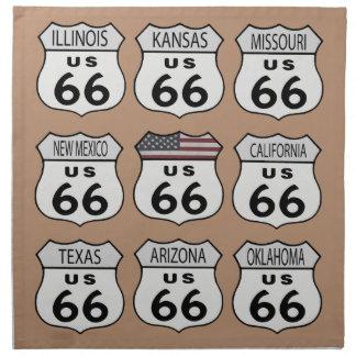 Ruta 66 servilletas