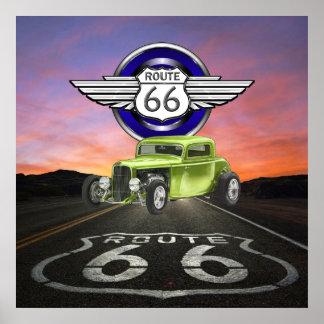 Ruta 66 - Vintage - coche clásico - SRF Impresiones