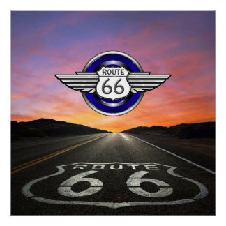 Ruta 66 - Vintage/obra clásica - SRF Póster