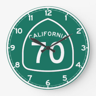 Ruta 70 del estado de California Reloj Redondo Grande
