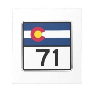 Ruta 71 del estado de Colorado Blocs De Notas