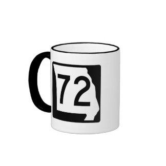 Ruta 72 de Missouri Taza De Dos Colores