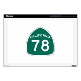 Ruta 78 del estado de California Calcomanías Para Portátiles
