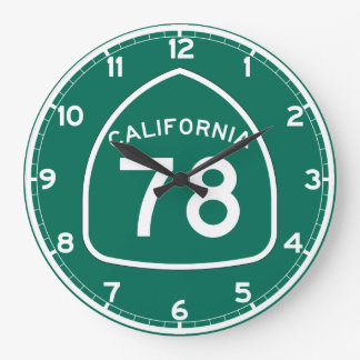 Ruta 78 del estado de California Reloj Redondo Grande