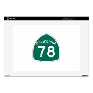 Ruta 78 del estado de California Skins Para Portátil
