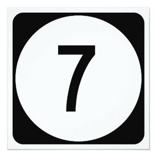 """Ruta 7 de Kentucky Invitación 5.25"""" X 5.25"""""""