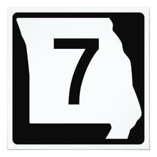 """Ruta 7 de Missouri Invitación 5.25"""" X 5.25"""""""
