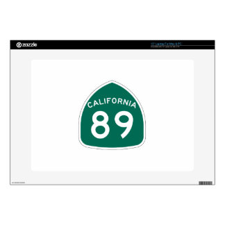 Ruta 89 del estado de California Portátil Calcomanía