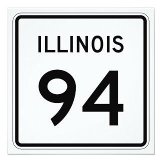 """Ruta 94 de Illinois Invitación 5.25"""" X 5.25"""""""