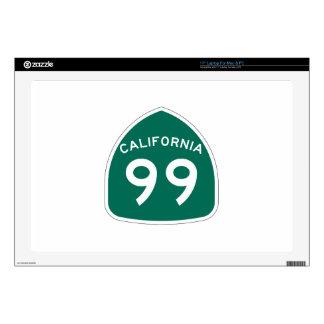 Ruta 99 del estado de California Portátil 43,2cm Skins