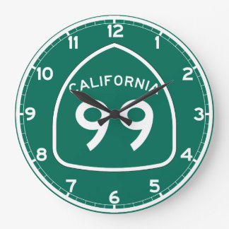 Ruta 99 del estado de California Reloj Redondo Grande