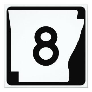 """Ruta 9 del estado de Arkansas Invitación 5.25"""" X 5.25"""""""