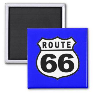 Ruta americana 66 del vintage para el día de padre imanes