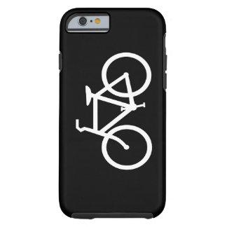 Ruta blanca de la bici funda resistente iPhone 6